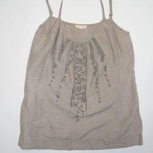 Eileen Fisher Sequin Linen Tank Top